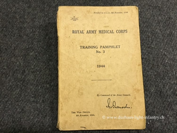 Royal Army Medical Corps Training Pamphlet
