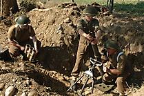 Minenwerfer im Einsatz